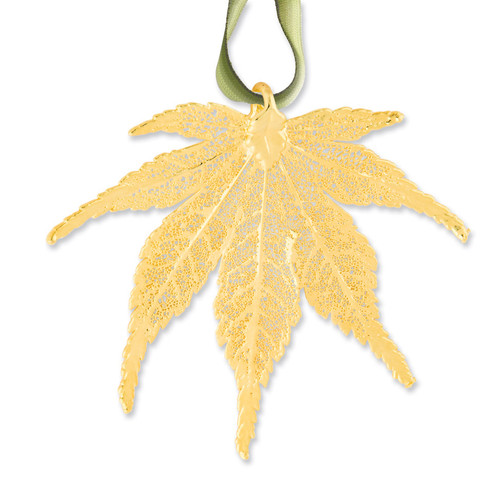 Japanese Maple Decorative Leaf 24k Gold Dipped GM3886