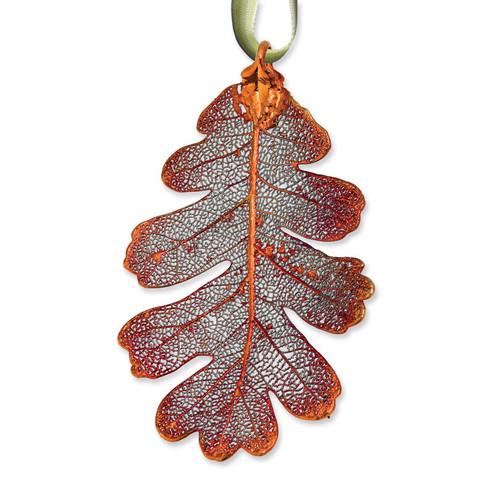 Oak Decorative Leaf Iridescent Copper Dipped GM3888