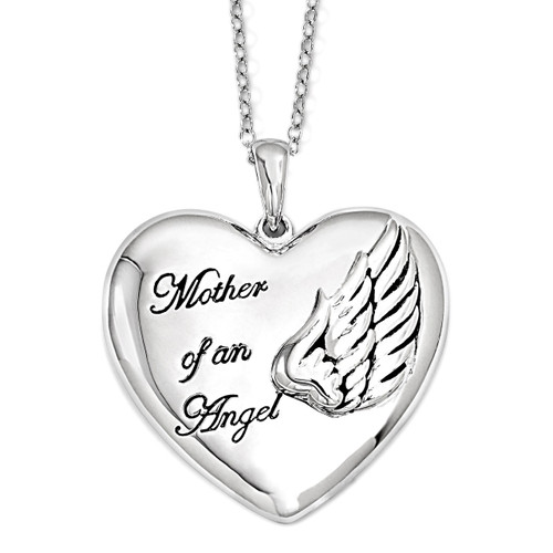 Mother of an Angel 18 Inch Necklace Sterling Silver QSX570