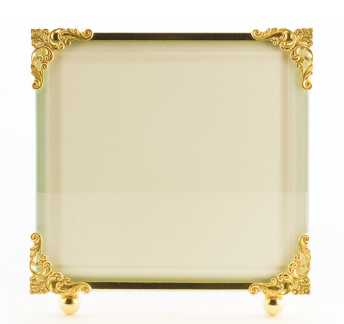 La Paris Corner Decor 10 x 10 Inch Brass Picture Frame