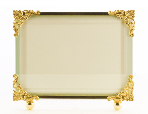La Paris Corner Decor 8 x 10 Inch Brass Picture Frame - Horizontal