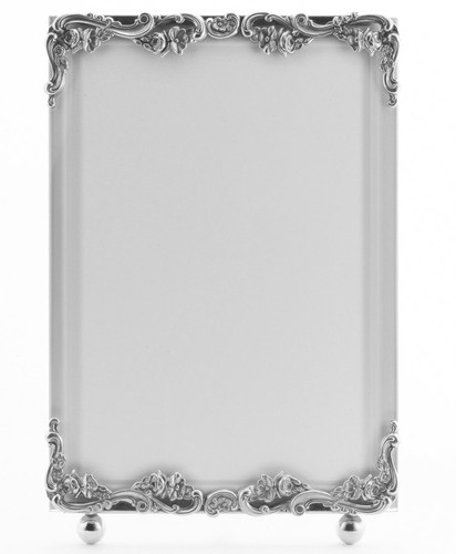La Paris Country French 5 x 7 Inch Silver Plated Picture Frame - Vertical