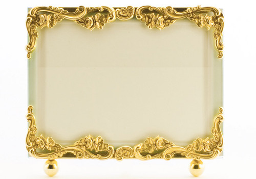 La Paris Country French 4 x 6 Inch Brass Picture Frame - Horizontal