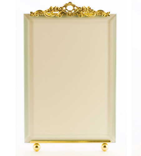 La Paris Country Garden 5 x 7 Inch Brass Picture Frame - Vertical