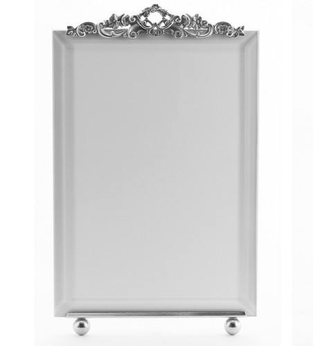La Paris Country Garden 5 x 7 Inch Silver Plated Picture Frame - Vertical