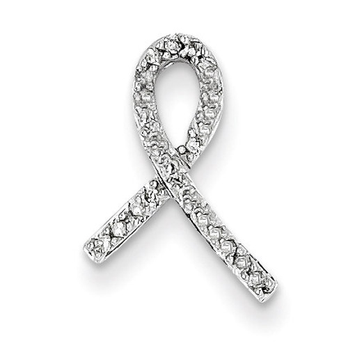 Breast Cancer Awareness Diamond Slide 14k White Gold XP3084AA