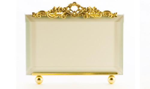 La Paris Country Garden 5 x 7 Inch Brass Picture Frame - Horizontal