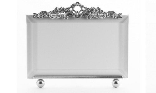 La Paris Country Garden 5 x 7 Inch Silver Plated Picture Frame - Horizontal