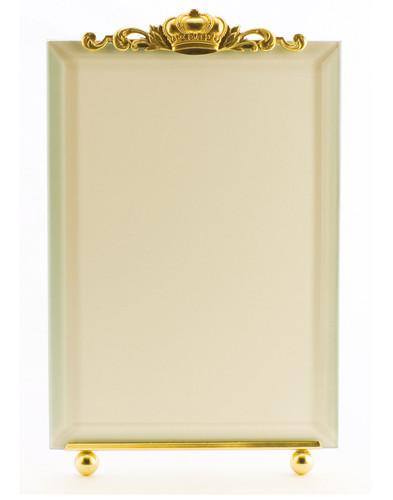 La Paris Crown 5 x 7 Inch Brass Picture Frame - Vertical