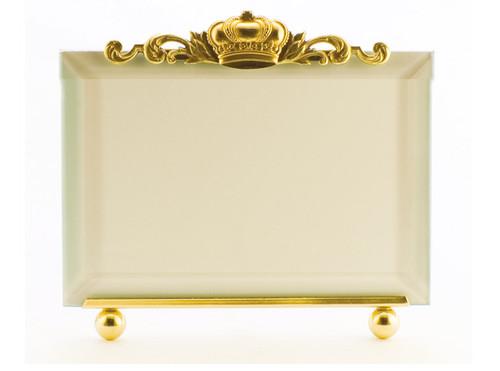 La Paris Crown 8 x 10 Inch Brass Picture Frame - Horizontal