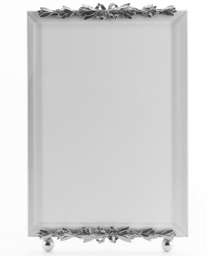 La Paris Evergreen 3.5 x 5 Inch Silver Plated Picture Frame - Vertical