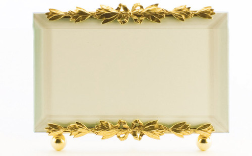 La Paris Evergreen 4 x 6 Inch Brass Picture Frame - Horizontal