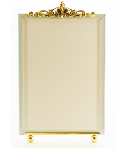 La Paris Fleur-De-Lis 8 x 10 Inch Brass Picture Frame - Vertical