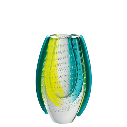 Rosenthal Dewdrop Turquoise Yellow Vase 8 1/2 inch