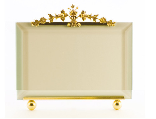 La Paris Floral Bouquet 3.5 x 5 Inch Brass Picture Frame - Horizontal
