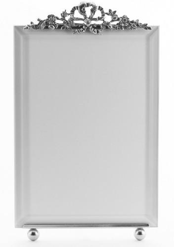 La Paris Florentine 4 x 6 Inch Silver Plated Picture Frame - Vertical