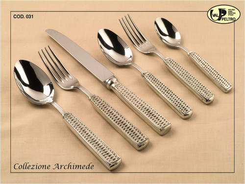 ValPeltro Archimede Four Piece 4 PC Steak Knife Set Pewter