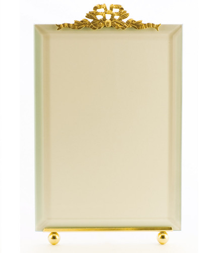 La Paris French Ribbon 3.5 x 5 Inch Brass Picture Frame - Vertical