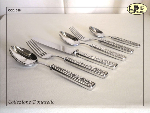 ValPeltro Donatello Five Piece 5 PC Place Setting Pewter