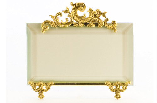 La Paris French Stand 3.5 x 5 Inch Brass Picture Frame - Horizontal