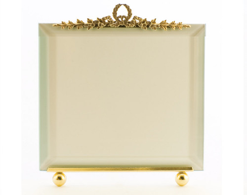 La Paris Garland 5 x 5 Inch Brass Picture Frame