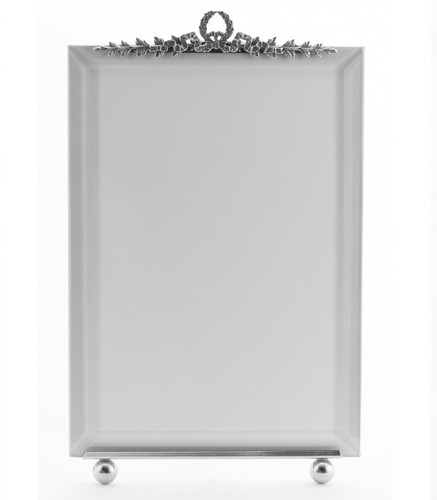La Paris Garland 4 x 6 Inch Silver Plated Picture Frame - Vertical
