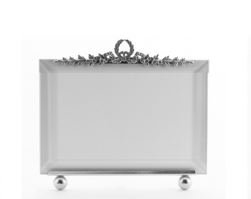 La Paris Garland 4 x 6 Inch Silver Plated Picture Frame - Horizontal