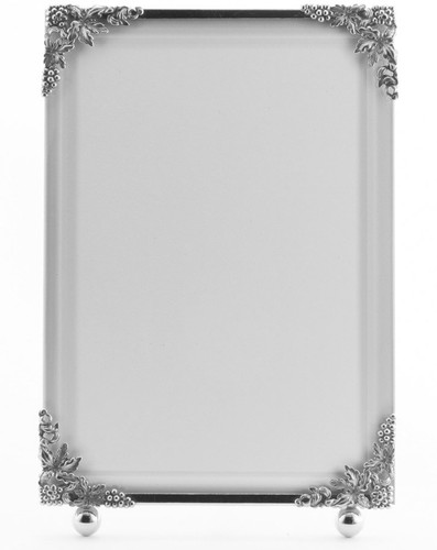 La Paris Grapevine 3.5 x 5 Inch Silver Plated Picture Frame - Vertical