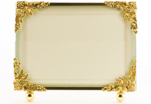 La Paris Grapevine 8 x 10 Inch Brass Picture Frame - Horizontal