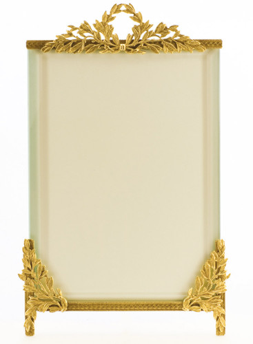 La Paris Laurel 5 x 7 Inch Brass Picture Frame - Vertical