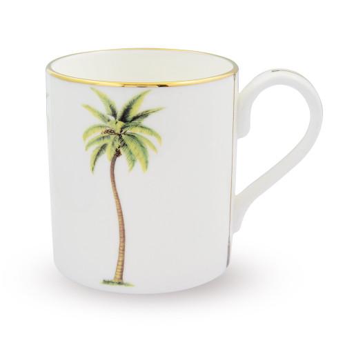 Halcyon Days Palm White Mug BCMWP03MGG