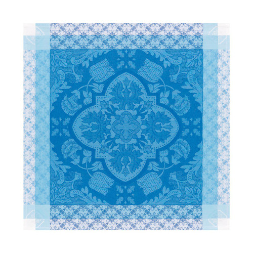 Le Jacquard Francais Azulejos Blue china Napkin 22 x 22 Inch Set of 4