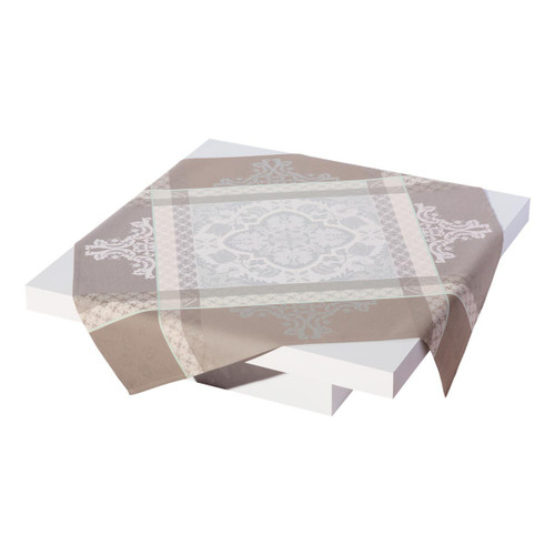 Le Jacquard Francais Azulejos Grey Small Square Tablecloth 47 x 47 Inch
