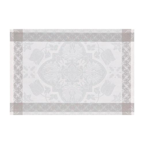 Le Jacquard Francais Azulejos Grey Placemat 21 x 15 Inch Set of 4