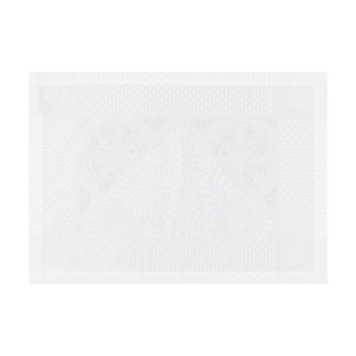 Le Jacquard Francais Bosphore Blanc White Placemat 21 x 15 Inch Set of 4