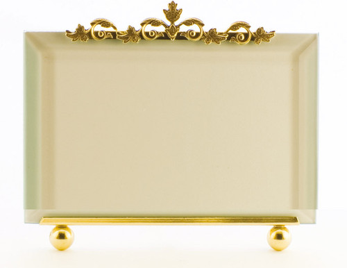 La Paris Leaf Ornament 8 x 10 Inch Brass Picture Frame - Horizontal