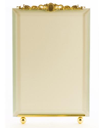 La Paris Medallion 5 x 7 Inch Brass Picture Frame - Vertical