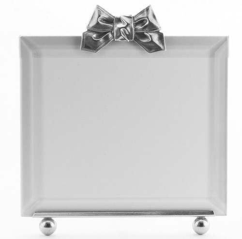 La Paris Ribbon 5 x 5 Inch Silver Plated Picture Frame