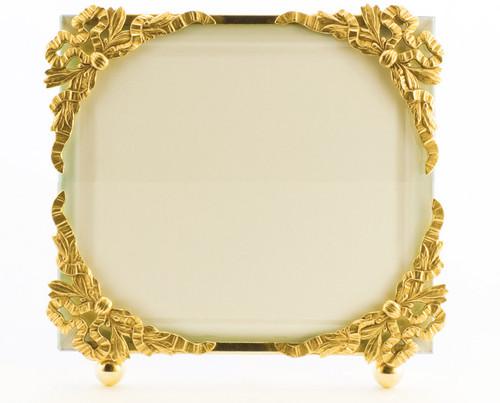 La Paris Ribbon Corners 4 x 6 Inch Brass Picture Frame - Horizontal