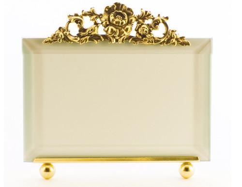 La Paris Roses 4 x 6 Inch Brass Picture Frame - Horizontal