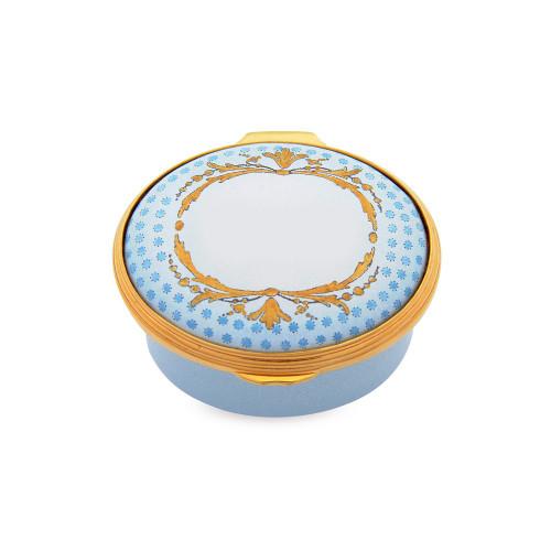 Halcyon Days Baby Box Blue Enamel Box MPN: 046/10609