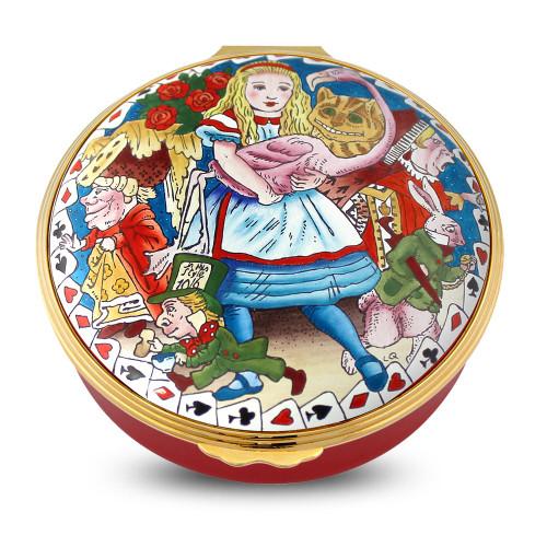 Halcyon Days Alice In Wonderland 150Th Ann Enamel Box Limited Edition Of 150