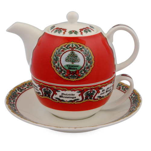 Halcyon Days Vintage Christmas Tea For One Set BCVCT06TON