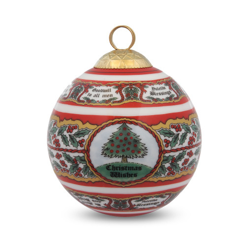 Halcyon Days Vintage Christmas Tree Bauble Ornament BCVCT06XBN
