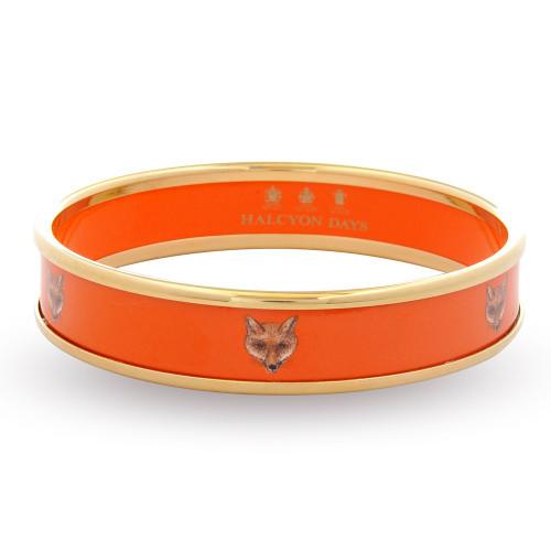 Halcyon Days 1Cm Fox Head On Orange Push On Bangle Medium
