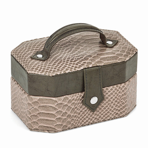 Grey Textured Snake Pattern Jewelry Case GM8442