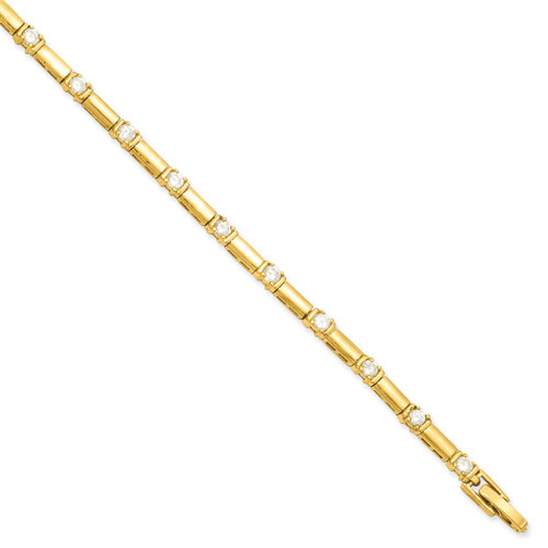 8.25 inch Gold-plated Diamond Bracelet KW467-8.25