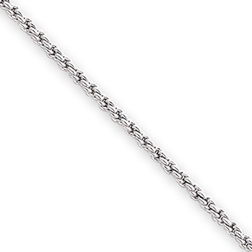 7.25 inch Rhodium-plated 2mm French Rope Bracelet KW470-7.25