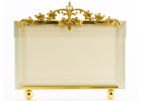 La Paris Victorian 4 x 6 Inch Brass Picture Frame - Horizontal