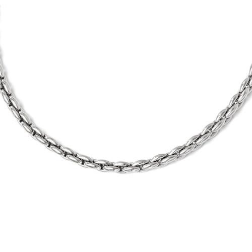 Leslie's Sterling Silver Polished Link Necklace MPN: QLF328-22